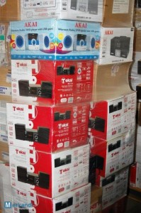 wholesale pallets of akai and tokai electronics
