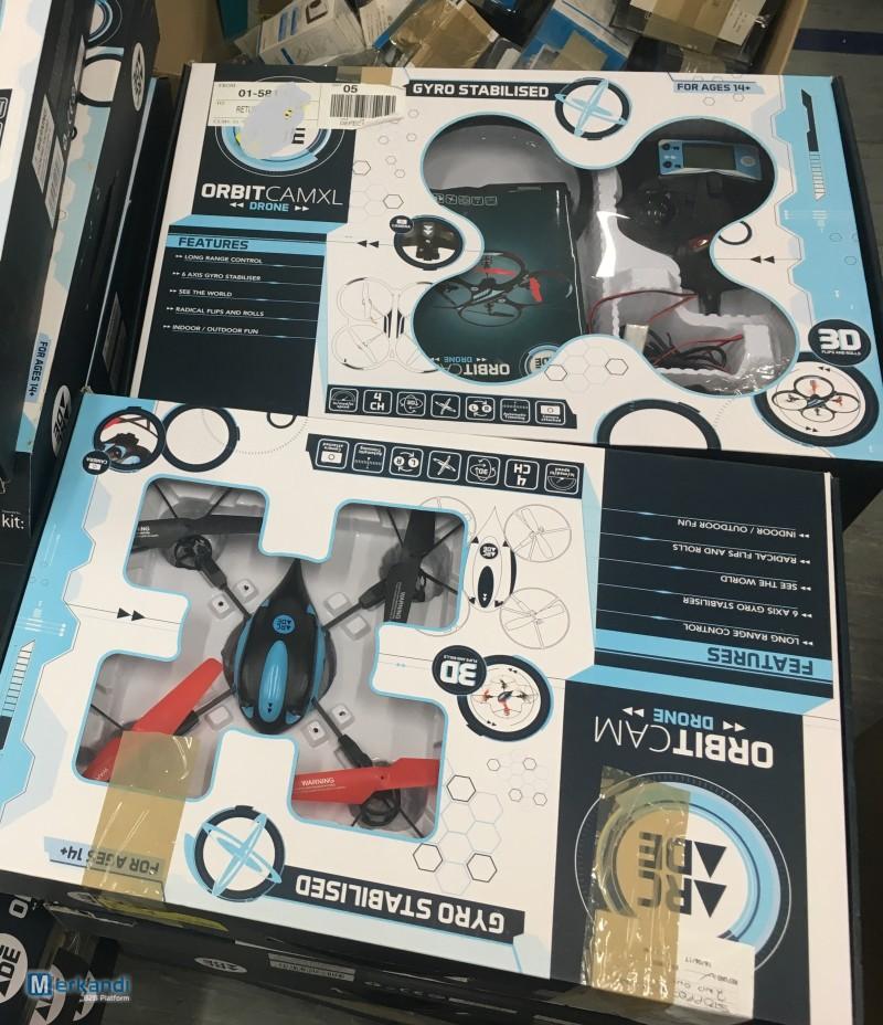 untested customer returns stock of ARCADE Orbit Cam XL drones