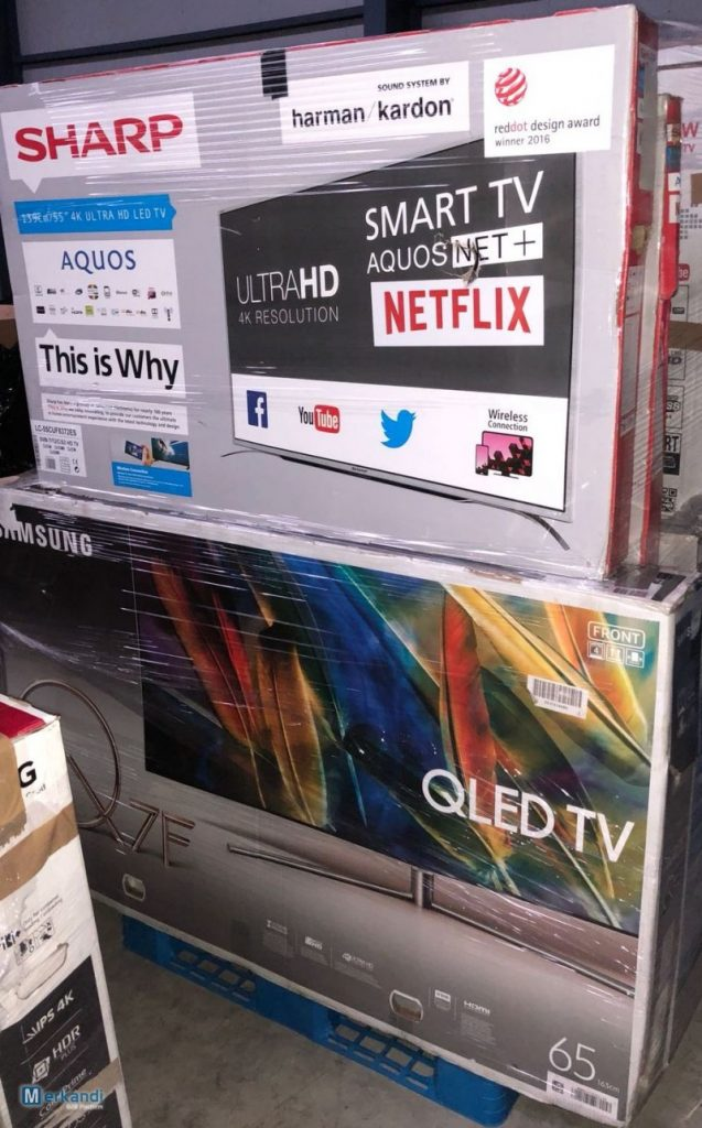 SHARP & SAMSUNG QLED TV wholesale returns